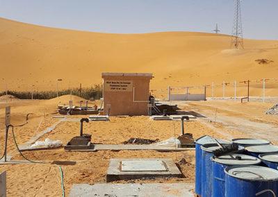 Planta petrolífera en el desierto de Argelia