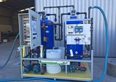 En Ecuador, en el Hospital de Machala, Salher® tiene instalada una planta de potabilización que consta de tratamiento físico químico, decantación lamelar, filtración multicapa, filtración por carbón activo y ajuste de pH.