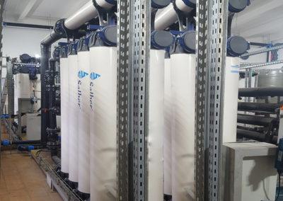 Sistema de ultrafiltración de la última obra de referencia de Salher, una planta de tratamiento de aguas industriales