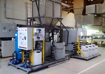 Sistema de reutilización Salher de aguas de industria del automóvil en Galicia
