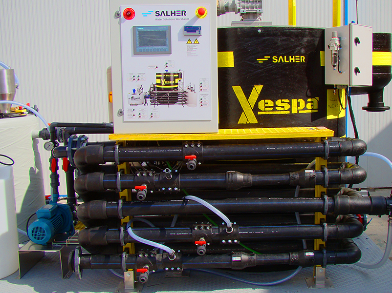 Vespa, flotator rozpuszczonym powietrzem firmy Salher, sukces sprzedażowy