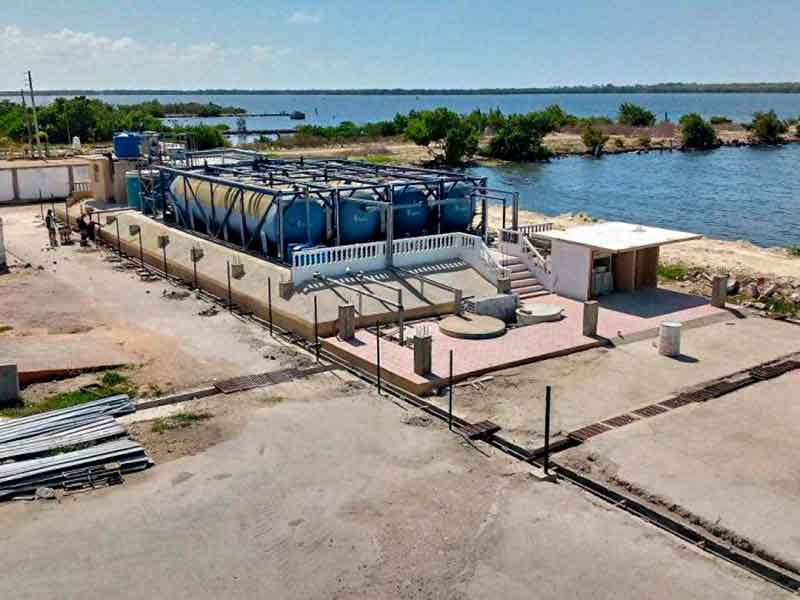 Le nouveau projet de traitement des eaux usées de Salher, dans les Caraïbes, contribuera à protéger le littoral de Caibarién